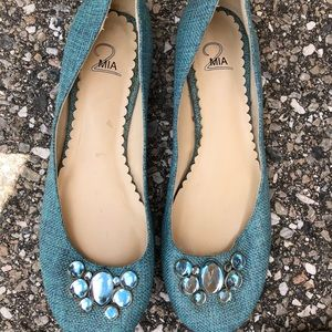 Mia ladies flats with bling. Size 8